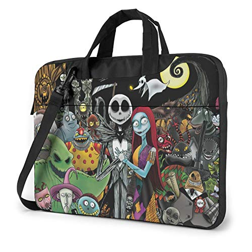 The Nightmare Before Christmas Laptop Bag Shoulder Messenger Bag Computer Tote Briefcase for Work School 14' for Diameter 23.0'- 27.0'