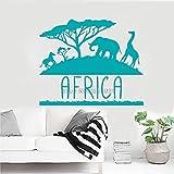 guijiumai Design Afrika Wandaufkleber Tiere Wandbild Home Interior Wanddekor Kreative Wohnzimmer Wandtattoo Abnehmbare Poster L 4 133 cm x 110 cm