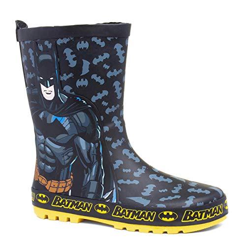 Shoe Zone Batman Kids Black Wellington - Size 13 Child UK - Black