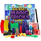 3 Bees & Me Deluxe Magic Kit Set with Toy Wand & 75 Magic Tricks for Kids - Best Age 6 7 8 9 10 11