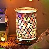 UNISOPH Bruciatore a Cera per aromaterapia, bruciatore a Cera per Cera elettrica da 40 W 110-240 V Lampade elettriche a Fusione a Cera con Luce sensibile al Tocco (Motivo colorato)