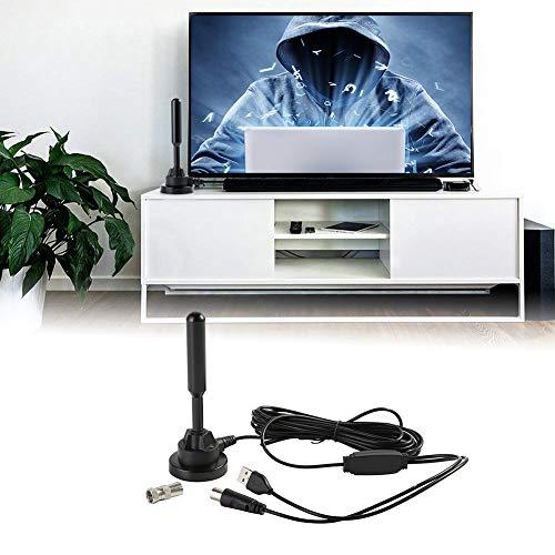Antena omnidireccional Digital HD Home para Interiores con Amplificador de señal y Accesorios de televisión