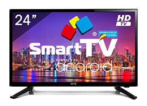 Televisor LED 24' NPG Smart TV Android 7.1 HD PVR WiFi Bluetooth TDT2 H.265