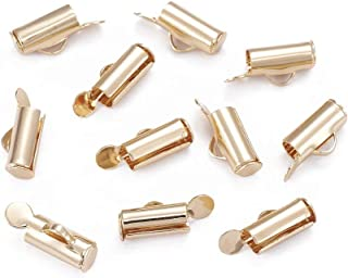 Jewelry Making Findings DIY Crafts HOUSWEETY 10Pcs Stainless Steel Cylinder Tube Beads Hole 1.5mm