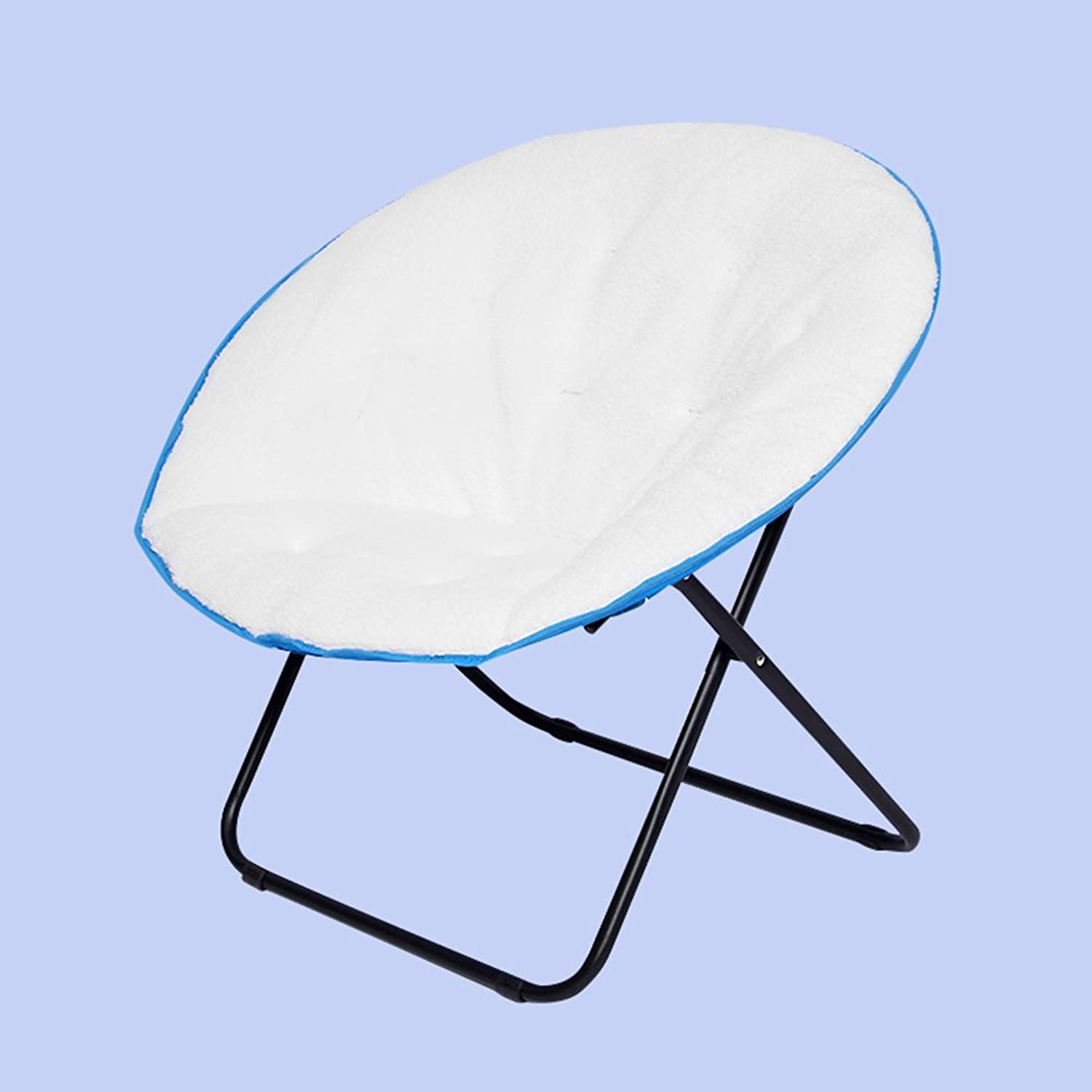 Suede moon chair   folding chair   sun chair   lazy couch   leisure chair   chair 67  76  71cm ( color   bluee )