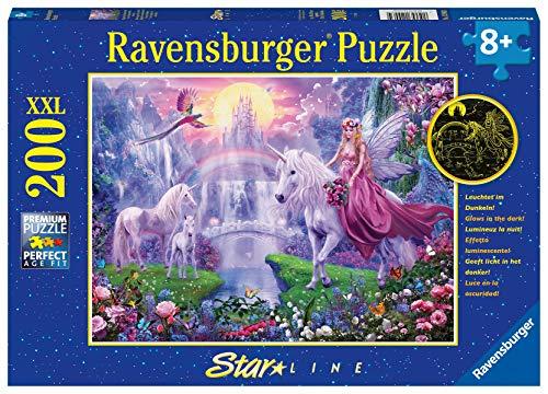 Ravensburger Kinderpuzzle 12903 12903-Magische Einhornnacht-Sonderserie 100/200 Teile, Silver