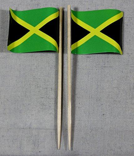Buddel-Bini Party-Picker Flagge Jamaika Papierfähnchen in Profiqualität 50 Stück Beutel Offsetdruck Riesenauswahl aus eigener Herstellung