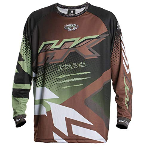 HK Army Retro Paintball Jersey - Edge - Brown/Olive - XL