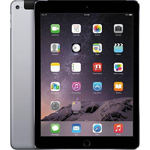 Apple iPad Air 2 MH2M2LL/A 64GB Wifi + Cellular Unlocked 9.7in Space Gray (Renewed)