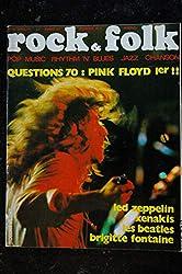 ROCK & FOLK 039 AVRIL 1970 COVER ROBERT PLANT PINK FLOYD LED ZEPPELIN XENAKIS BEATLES BRIGITTE FONTAINE