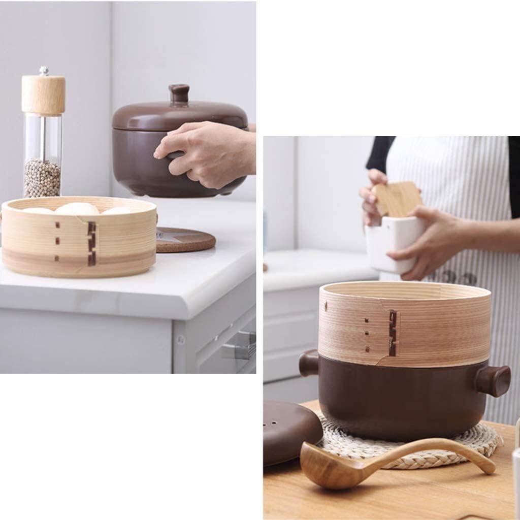 weiwei Marmite à ragoût Casserole en céramique avec Couvercle Pot à Soupe Haute température et Grande capacité(Couleur:Bleu) Brown