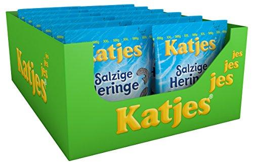 Katjes Salzige Heringe, 12er Pack (12 x 0.5 kg)