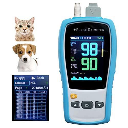 Veterinär Pulsoximeter Tier Haustier Hund und Katze Blut Sauerstoff Pulsmesser 95165,Blue