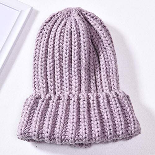 UKKD Wintermütze Damen Winterhüte Für Frauen Kaschmir Gestrickt Hut Warme Slouchy...