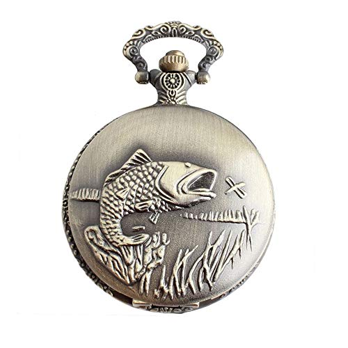 WH-IOE Reloj de Bolsillo de la Vendimia Bolsillo del Cuarzo de los Hombres y Las Mujeres clásico Cuarzo de la Vendimia del Reloj de Bolsillo Antiguo Reloj Colgante Regalo para cumpleaños