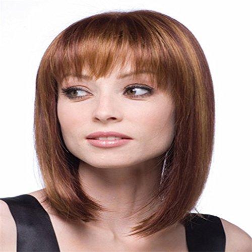 Longlove Naturel milieu synthétique bouclés Big ondulés perruque de cheveux humains pour les filles