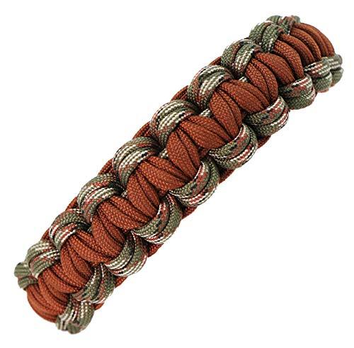 Hundehalsband Banu-2 aus Paracord, Zugstopper oder Klickverschluß, Individuelle Größe, 2 Farben frei Kombinierbar, 2.5 Zentimeter breit