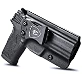 Compatible with M&P Shield 9mm EZ Holster, IWB KYDEX Holster Fit: S&W M&P Shield 9mm EZ Pistol Only, Inside Waistband Holster Concealed Carry for Men / Women, Adjustable Cant & Retention, Right Hand