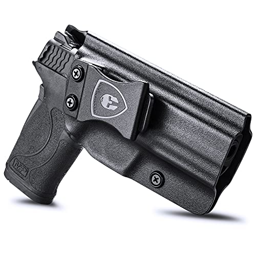 M&P Shield 9mm EZ Holster, IWB KYDEX Holster Fit: S&W M&P Shield 9mm EZ Pistol Only, Inside Waistband Holster Concealed Carry for Men / Women, Adjustable Cant & Retention, Right Hand