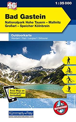 Bad Gastein, Nationalpark Hohe Tauern: Nr.16, Outdoorkarte Österreich, 1:35 000, Mit kostenlosem Download für Smartphone: Nationalpark Hohe Tauern, ... App (Kümmerly+Frey Outdoorkarten Österreich)
