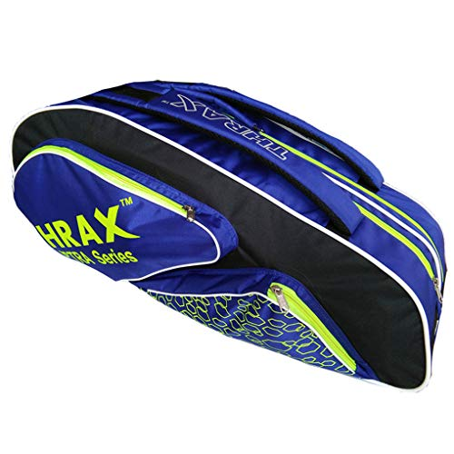 Thrax Astra Series Badminton Kit Bag (Black Blue and Lime)