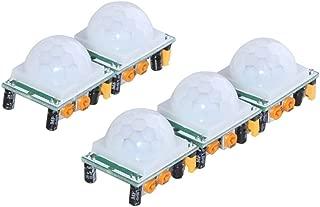 DIYmall 5 Pack HC-SR501 Pir Motion IR Sensor Body Module Infrared for Arduino