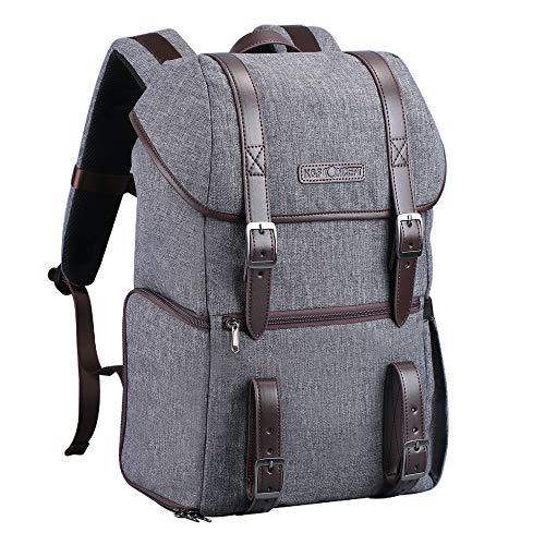 Docooler Camera Backpack Camera BagPhotography Storager Bag Compatible with SLR DSLR Camera Laptop Grey