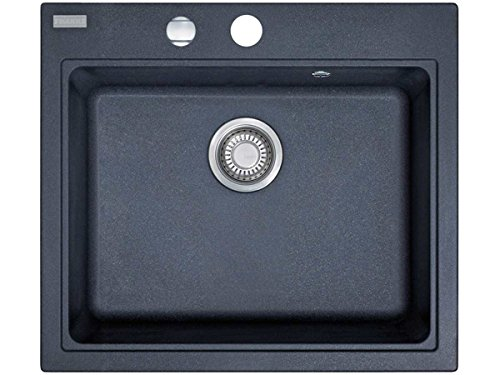 Franke Maris MRG 610-58 1140075390 - Fregadero empotrable (material Fragranite DuraKleen Plus), color negro