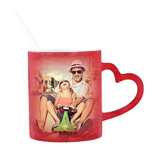 Tazas Personalizadas Tazas De Café Personalizadas Sensibles Al Calor Que Cambian De Color De 11 Oz Agregue Su Texto Y Fotos Tazas Personalizadas Regalos Personalizados Personalizados Para (rojo)