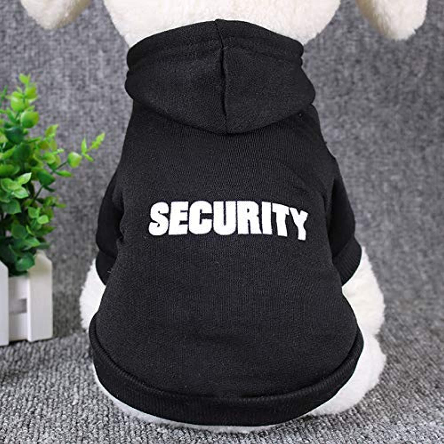 HSDDA Party Pet Costume Pet sweater autumn and winter pet clothes jacket hooded dog clothes (color   Black, Size   M) Pet Uniform (color   Black, Size   M)