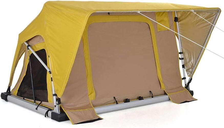 Yx-outdoor Tente de Toit Double Tige hydraulique Auto-Conduite Soft Shell Manuel Tente de Toit en Plein air Camping Car Compte