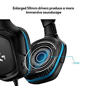 Logitech G432 Kabelgebundenes Gaming-Headset, 7.1 Surround Sound, DTS Headphone:X 2.0, 50 mm Treiber, Bügelmikrofon mit Flip-Stummschaltung, Ohrpolster mit Kunstleder, PC/Xbox Ons/PS4/Nintendo Switch