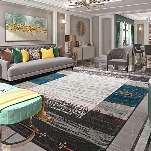 SANMU カーペット 200×250 ラグ ラグマット 北欧風 幾何 約4畳 絨毯 マット 洗える 滑り止め付き 防ダニ 抗菌防臭 冷房、床暖房対応 マルチカラー