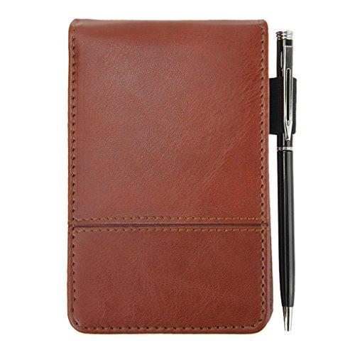 Liying Schreibmappe mit Taschenrechner,Schreibblock,Aktenmappe,Konferenzmappe,Dokumenten-Mappe,Lederoptik im DIN A7 Format Rot