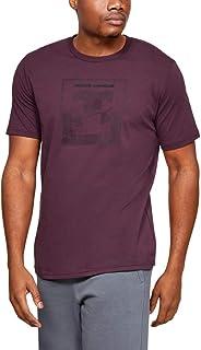 Under Armour Men's UA Inverse Box Logo T-Shirt, Purple (Kinetic Purple/White), X-Large
