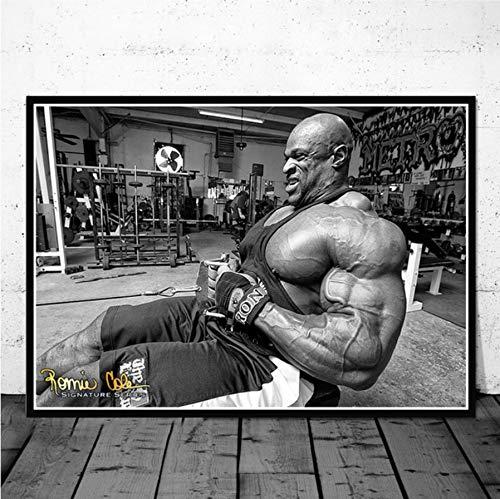 NOVELOVE Wandkunst Bild Ronnie Coleman Fitness Gym Sport Star Muskelmann Poster Drucken Leinwand Malerei Geschenk Ohne Rahmen 40 * 60 cm