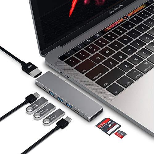USB C Hub Adapter for MacBook, GEEKERA 8 in 1 Type C Hub Docking Station for MacBook Pro 2020-2016, MacBook Air 2020/2019/2018, 4K HDMI, 100W Thunderbolt 3, USB-C, SD/TF Card Reader, 3x USB 3.0