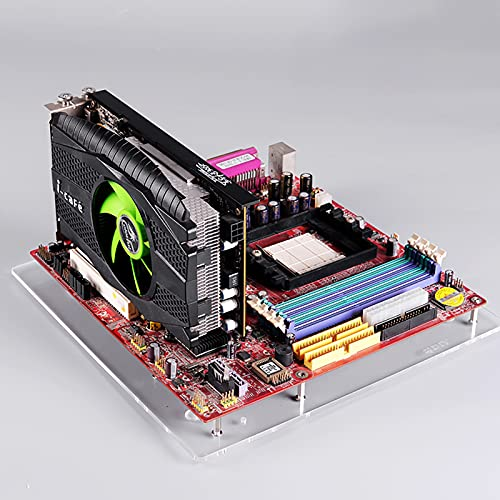 MATX PC Open Transparent Acrylic Frame Test Bench...