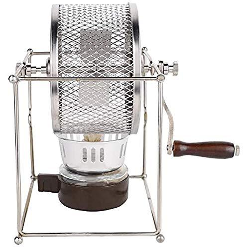 Coffee Roaster, Mini-Handbuch Edelstahl-Rollen Startseite Kaffeebohnen Röstmaschine DIY Kaffeeröster Mit Griff 300G