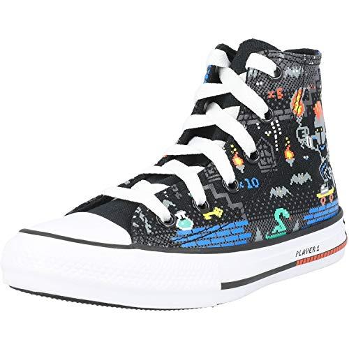 Converse Chuck Taylor All Star Boys Gamer Hi Zapatillas Moda Chicos Negro/Multicolor...