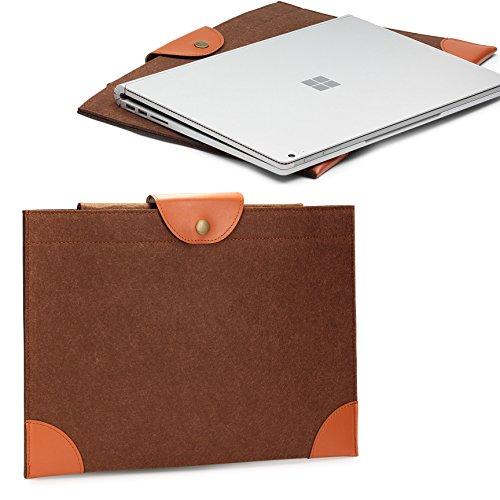 Urcover® Bolso Universal 13 Pulgadas, Estuche para Tablet/Ordenador Portátil Funda de Viaje Protección Sleeve - Marrón (iPad MacBook Laptop Notebook Samsung Tab ASUS Acer)