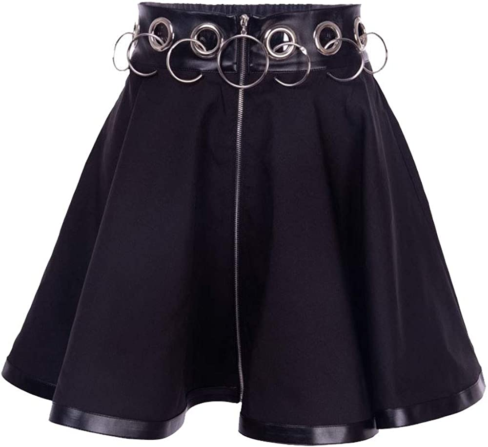 Nite closet Max Gifts 67% OFF Punk Rock Skirts for Women Zip Wais High Up Clothing