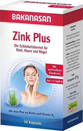 Bakanasan Zink Plus Biotin + Calciumpantothenat, 90 Kapseln