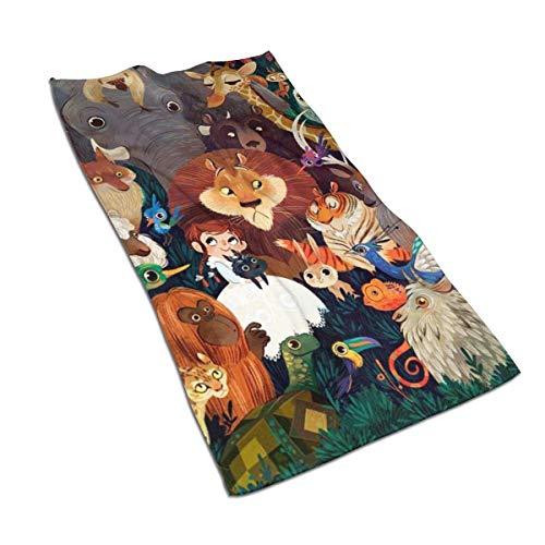 U/K Wonderful Wizard Lions - Toalla de mano para baño, suave, absorbente, toalla de baño, toalla de cocina, plato de invitados, toalla de baño
