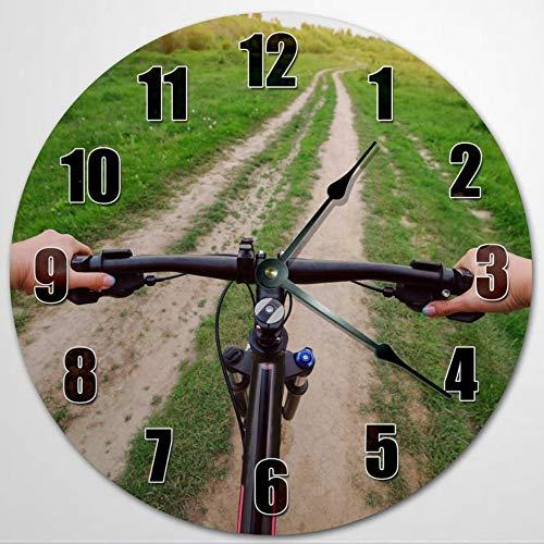 Reloj de pared de 30,5 cm, funciona con pilas, para decoración de pared de casa de granja, decoración del hogar