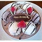 バースデーアイスケーキ チョコver 5号 【誕生日プレートが選べる★3種類】(Happy Birthday)