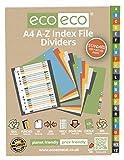 eco-eco A4 50% Reciclada Set A-Z Divisores de Archivos de Índice (eco030)