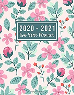 2020-2021 Two Year Planner: 2020-2021 two year planner flower watecolor cover   24-Month Planner & Calendar. Size: 8.5