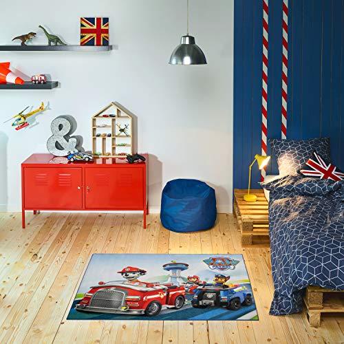 Carpet Studio PAW Patrol Kinderteppich 95x125cm, Spielteppich für Schlafzimmer, Kinderzimmer & Spielzimmer, Waschbar, Einfach zu Säubern, rutschfest - Deluxe
