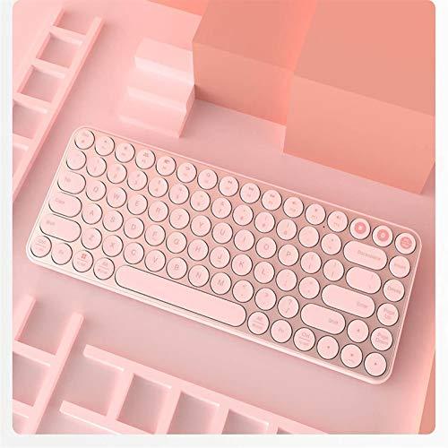 LG Snow Teclado Bluetooth Dual-Mode USB Multi-System Cambio, conexión inalámbrica, Libertad de imaginación, Dos Modos, Libre elección (Color : Pink)